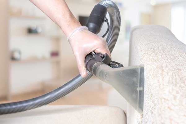 close up of professional lounge room upholstery cleaner