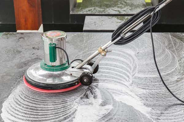 pool tile cleaning with soap machine